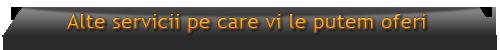 Servicii pe care vi le putem oferi